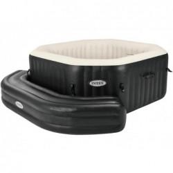 Achteckige Aufblasbare Sitzbank Purespa Schwarz Intex 28510 | Poolsweb