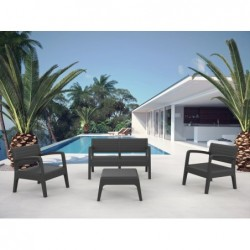 Gartenmöbel Modellset Miami Antrazit SP Berner 55393   Poolsweb