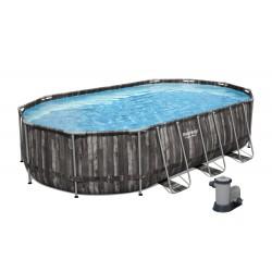 Power Steel Pool mit 610x366x122 cm Bestway 5611R