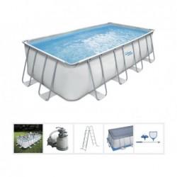 Abnehbarer Pool Polygroup P418095210E Elite Frame Summer Waves mit 548x274x132 cm. | Poolsweb