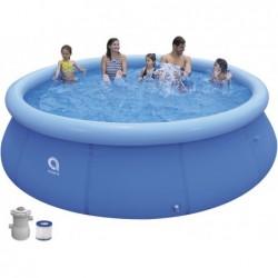 Abnehmbarer Pool mit Aufbereitungsanlage 1136 L. Jilong 17794EU mit 360x76 cm Promt Pool Set