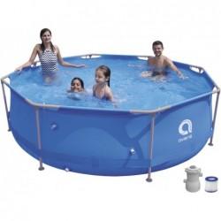 Abnehmbarer Pool mit Aufbereitungsanlage 1136 L. Jilong 17798EU Super Round Pool Set 300x76 cm.