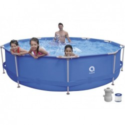 Abnehmbarer Pool mit Aufbereitungsanlage 1136 L. Jilong 17799EU Super Round Pool Set 360x76 cm.