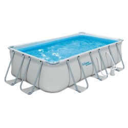 Abnehmbarer Pool Polygroup P4130739EOEU Elite Frame Summer Waves mit 400x200x100 cm.