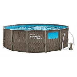 Abnehmbarer Pool von Polygroup P8Q01548BOE Elite Frame Summer Waves mit 457x122 cm.
