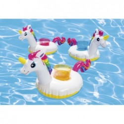 Unicornios Aufblasbarer Getränkehalter Intex 57506 3er Pack   Poolsweb