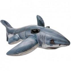 Weißer Haifisch Aufblasbares Intex 57525 Von 173x107 Zentimeter.