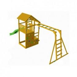 Parque Infantil Teide con Escalera de Mono y Columpio Individual de Masgames MA700105
