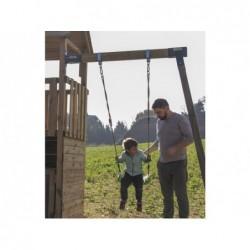 Parque Infantil Brach Hut XL con Columpio Individual de Masgames MA802311   PiscinasDesmontable
