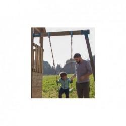 Parque Infantil Crossfit XL con Columpio Individual y Tobogán de Masgames MA802911   PiscinasDesmontable