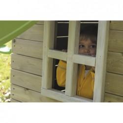 Kinderspielplatz Mit Haus Und Doppel Schaukel Canigo Masgames Ma700205 | Poolsweb