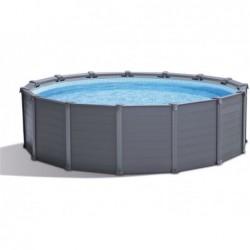 Abnehmbarer Pool Intex 2638np Graphite Gray Panel 478x124 Cm