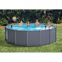 Abnehmbarer Pool Intex 2638np Graphite Gray Panel 478x124 Cm | Poolsweb