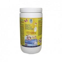 Chlor 1 Kg Langsame Lösung 90% Pqs 166522