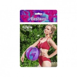 Aufblasbarer Ball Lila Mit Federn Von 41 Cm. Bestway 31051 | Poolsweb
