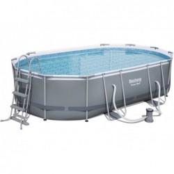 Abnehmbarer Pool 488x305x107 Cm. Power Steel Bestway 56448