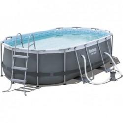 Abnehmbarer Pool 427x250x100 Cm. Power Steel Bestway 56620